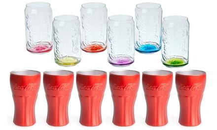6 bicchieri Excelsa logo Coca Cola