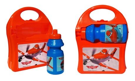 1 o 2 kits de porta alimentos con botella de agua para escuela y tiempo libre
