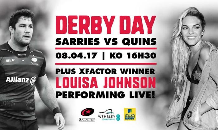Saracens - Wembley Stadium: Saracens v Harlequins at Wembley Stadium, Child, Adult or Family Ticket, Saturday 8 April 2017 (Up to 29% Off)*
