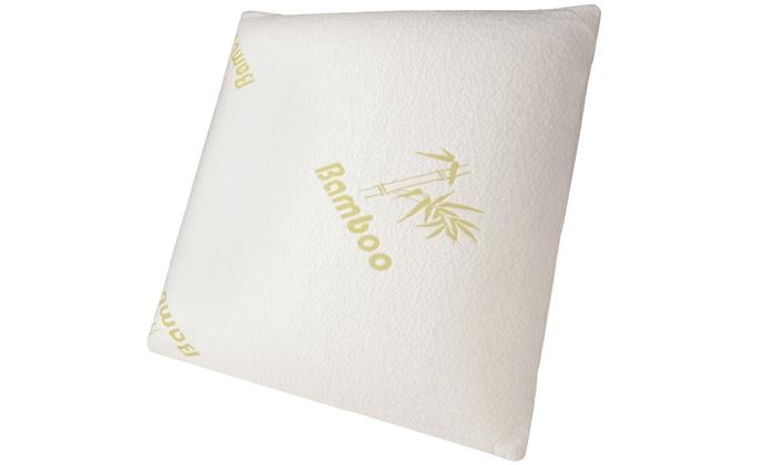 oreillers m moire de forme bambou groupon. Black Bedroom Furniture Sets. Home Design Ideas