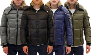 Men's Parka Jacket with Detachable Hood