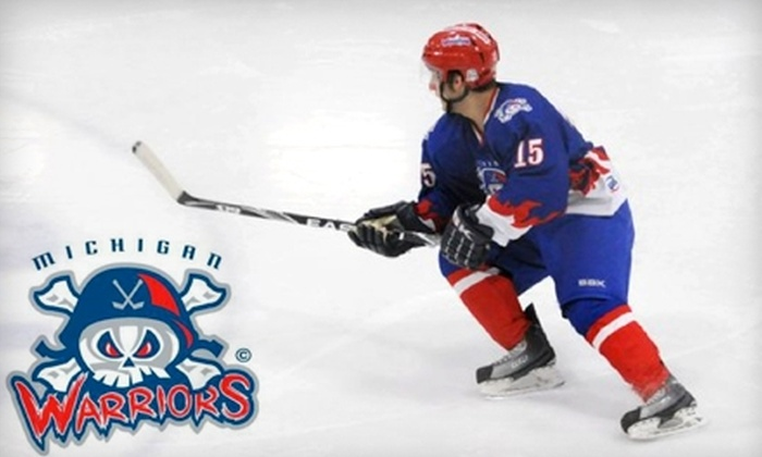Michigan Warriors - Flint: Tickets to Michigan Warriors Hockey Game in Flint. Choose Between Two Ticket Packages and Five Games.