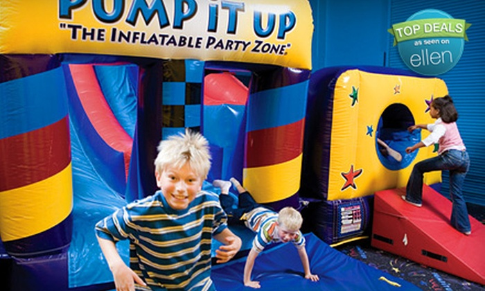 Pump It Up Cincinnati - West Chester: 6 or 12 Pop-In Inflatable Play-Center Sessions at Pump It Up (Up to 52% Off)