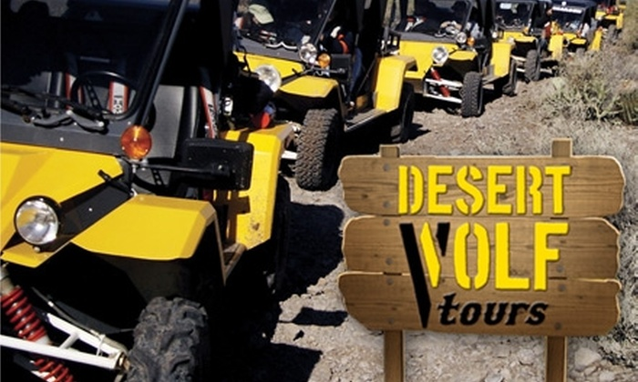 Desert Wolf - New River: $70 for One Half-Day Desert Wolf Tomcar Tour ($145 Value)