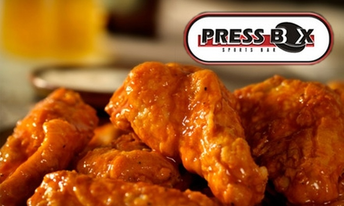 Press Box Sports Bar - North Central: $10 for $20 Worth of Bar Fare and Drinks at Press Box Sports Bar