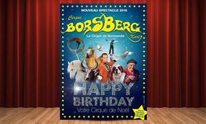 Cirque Borsberg: 2 entrées gradin adultes ou enfants à 15 € pour le cirque Borsberg