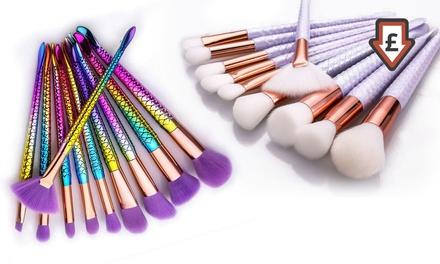 TenPiece Mermaid MakeUp Brush Set