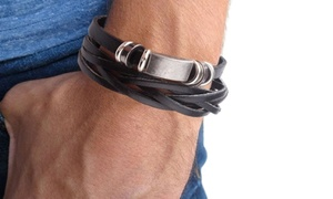 Bracelets en similicuir hommes