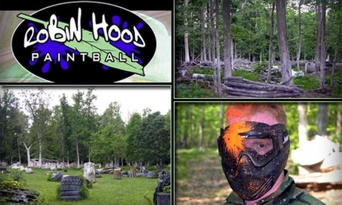 Robin Hood Paintball - 2, Halls Cross Roads: $37 for All-Day Paintball Session at Robin Hood Paintball