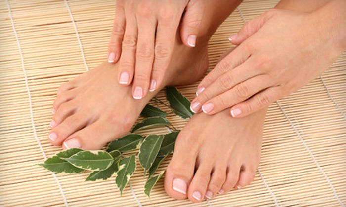 The Beauty Bar - The Beauty Bar: Deluxe, Shellac, or Minx Mani-Pedi at The Beauty Bar (Up to 57% Off)