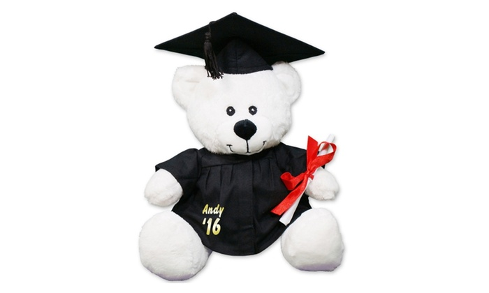 personalized graduation cap and gown teddy bear from 800bear com