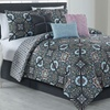 Cruz Printed Reversible Comforter Set (7-Piece)