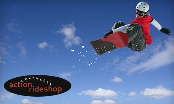 Action Rideshop - Dobson Woods: $25 for a Weekend Snowboard Rental or $21 for a Weekend Ski Rental at Action Rideshop in Mesa
