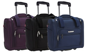 Travelers Polo and Racquet Club Underseat Carry-On Luggage & USB Port