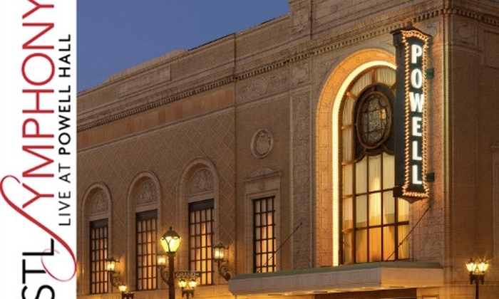 St. Louis Symphony  - Grand Center: $23 for One Ticket to the St. Louis Symphony. Choose from Two Concerts and Two Seating Options.