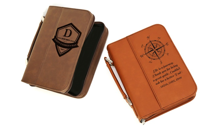 Fabric Book Covers Office Depot ~ Custom father s day leatherette book cover from monogram