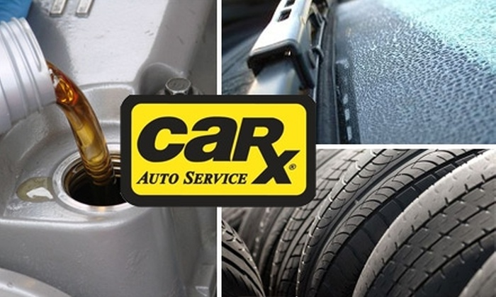 CarX Tire & Auto Service - Multiple Locations: $29 for an Oil Change, Tire Rotation, Wiper Blades, and 41-Point Courtesy Safety Inspection at Car-X ($99 Value). Choose From Four Locations.