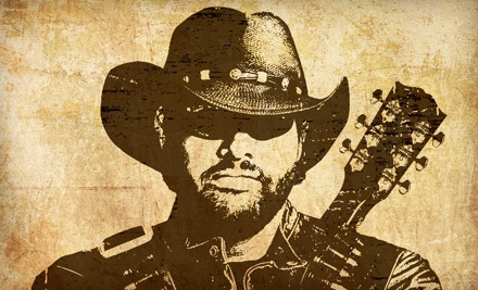 Live Nation: Toby Keith at the Gorge Amphitheatre on Sat., Aug. 20 at 7:00PM: Sections 101, 103, or 202-205 - Toby Keith  in George