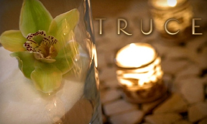 Truce - West Bellevue: $140 for a 60-Minute Body Wrap and Custom Take-Home Spa Package for Two at Truce ($258 Value) Plus Two Tickets to Lincoln Square Cinemas ($23 Value)