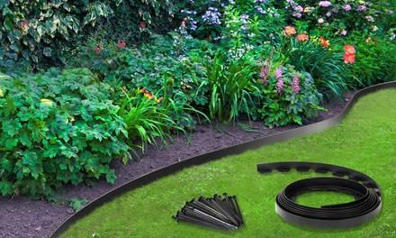 Jusquà 30m de bordure jardin flexible en plastique, ancrage ...