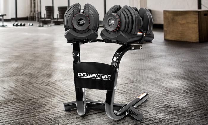 8d48f056072 48kg Adjustable Dumbbell Set