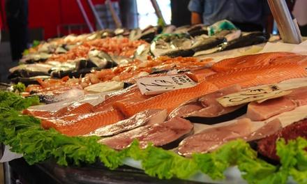 1 o 2 kg di pesce o crostacei