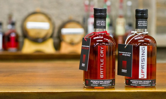 Sons of Liberty Spirits Company - Wakefield-Peacedale: Whiskey Tour or Tasting Flights for Two or Four at Sons of Liberty Spirits Company (Up to 45% Off)