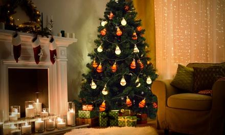 10 ledlampjes met Kerstthema
