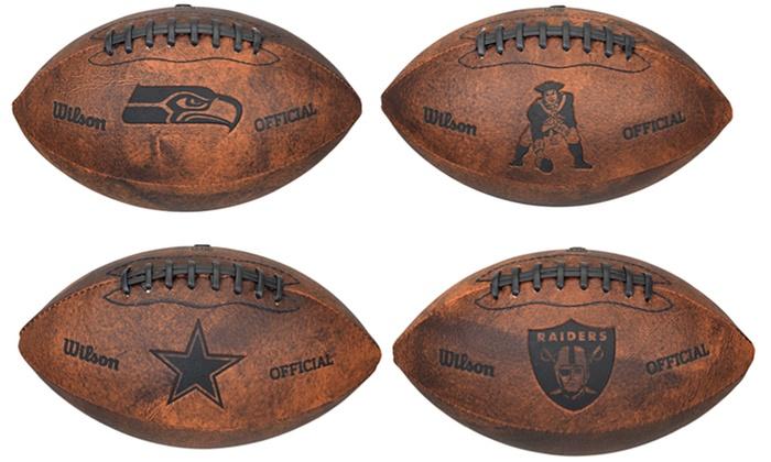 NFL 9 Throwback Footballs