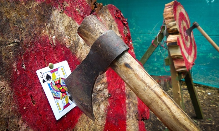 Live For Today Adventures - Multiple Locations: Tomahawk Axe Throwing Session for One or Two at Live For Today Adventures, Two Locations (Up to 57% Off)