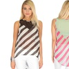 Casually Cute Women's Striped Lace Back Top