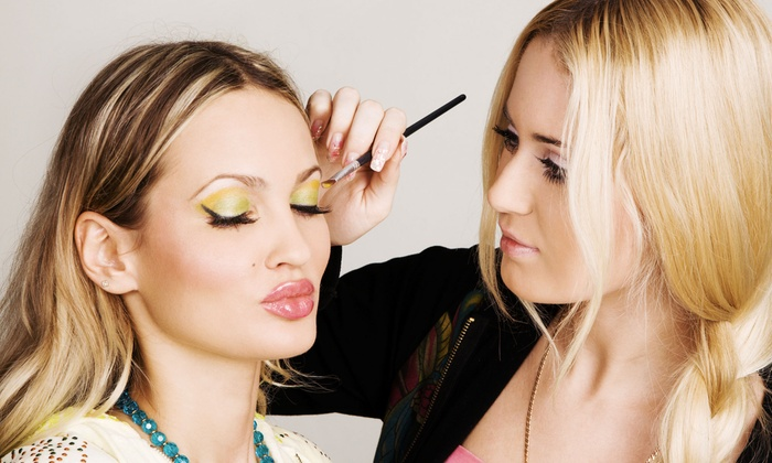 Fashion Face - Astrodome: One or Two Party-Makeup Applications with Airbrushing and Eyelashes at Fashion Face (Up to 59% Off)
