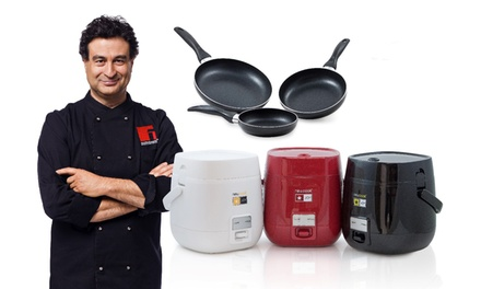 1.2L Kitchen Robot Newcook Joy and Three Frying Pans