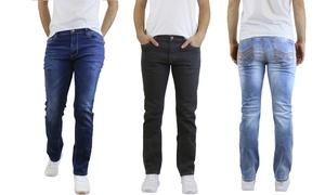 Men's Slim Fit Straight Leg Stretch Jeans