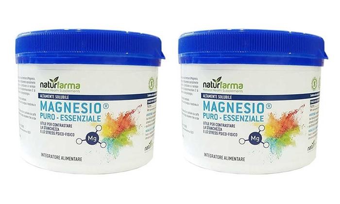 1 o 2 confezioni di Magnesio Puro Essenziale Naturfarma in formato da 300 g