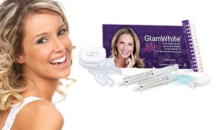 Glam White LED Elite Whitening Kit with Refill and Optional Syringe or Teeth Whitening Pen