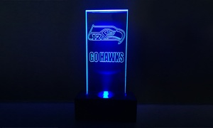 206led: $25 for a Standard-Base Seattle Seahawks LED Sign from 206led.com ($39.99 Value)
