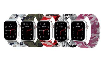 Waloo Camo Printed Milanese Band for Apple Watch Series 1-5