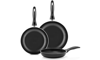 "Chef's Star 8"", 9.5"", and 11"" Non-Stick Frying Pan Set (3-Piece)"
