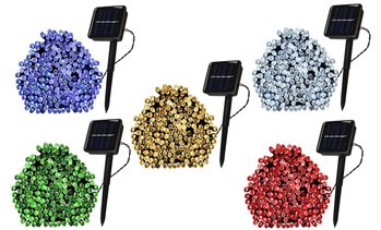 100 LED Solar-Powered Fairy String Lights (1-, 2-, or 4-Pack)