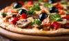 Menú con pizza para 2 o 4