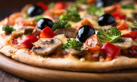 Menú italiano para 2 o 4 con entrante, pizza, postre y bebida en Bufaloloco Pizzería (hasta 54% de descuento)