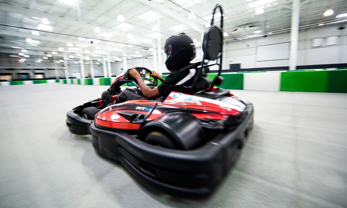 Slingshot Entertainment - Norcross: Go-Karts, Bowling, and Ninja Course Runs at Slingshot Entertainment (Up to 61% Off). Four Options Available.