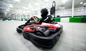 Slingshot Entertainment: Go-Karts, Bowling, and Ninja Course Runs at Slingshot Entertainment (Up to 61% Off). Four Options Available.