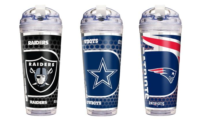 NFL 24oz. Acrylic Tumbler with Straw