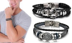 Bracelets simili cuir pour hommes