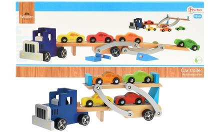Toi Toys Wooden Car Trailer