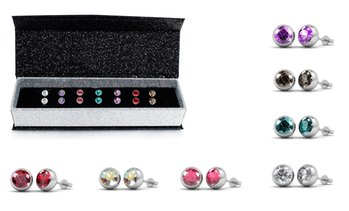 Seven-Day Swarovski® Earring Set