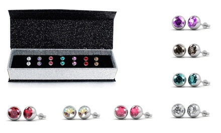 $25 for a SevenDay Earring Set with Crystal from Swarovski® Don't Pay $110.82