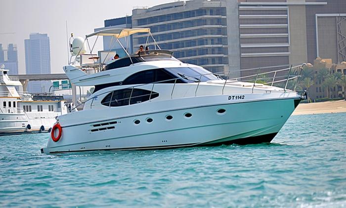 Asfar Renting Boats and Cruise Ships - Pier 7 Dubai marina : Three-Hour Morning Yacht Cruise with Asfar Renting Boats and Cruise Ships (56% Off)